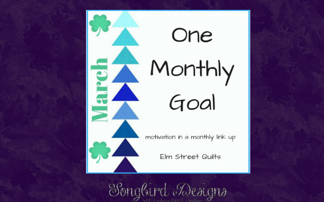 One Monthly Goal!